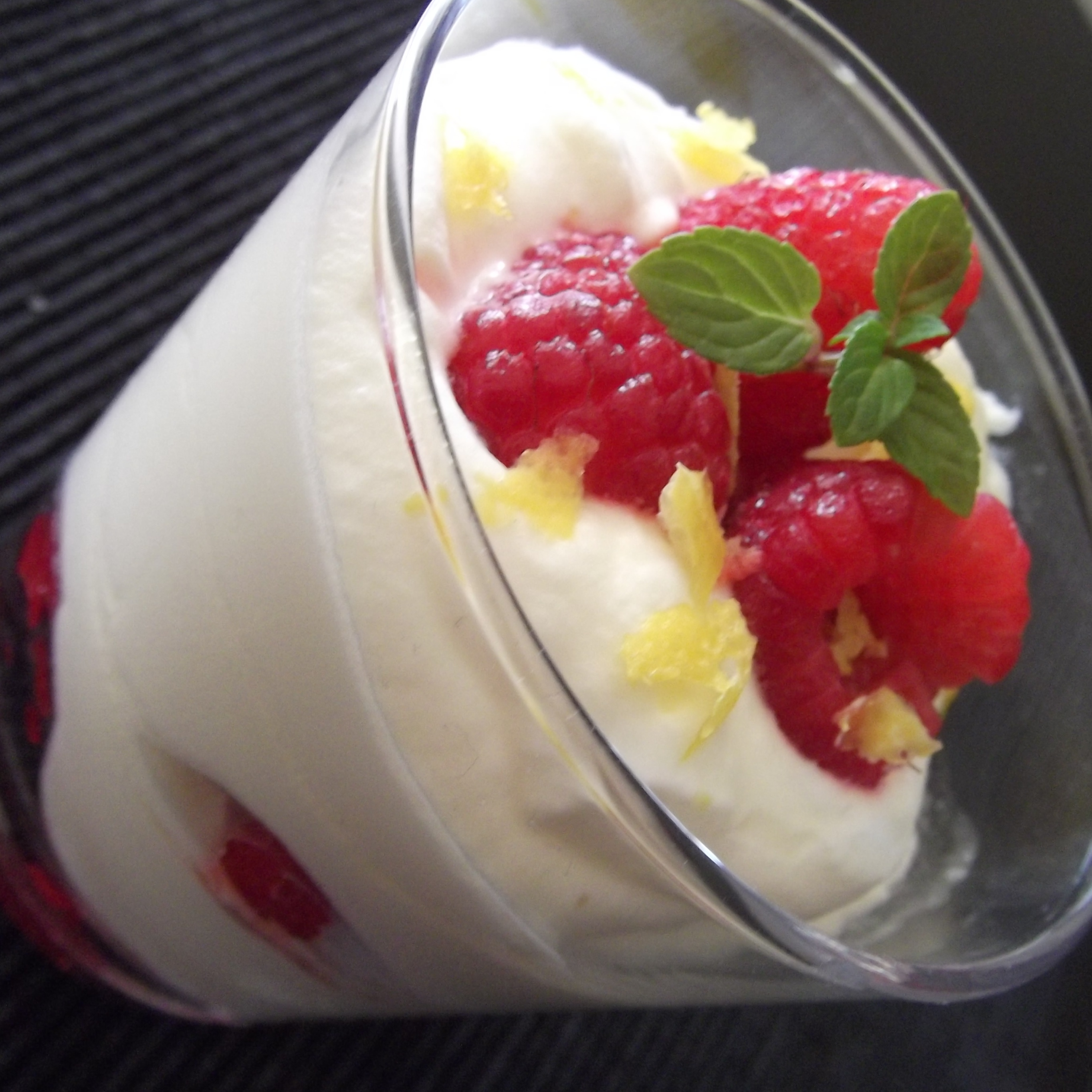 Lemon Syllabub with Raspberries | Recipe Adaptors