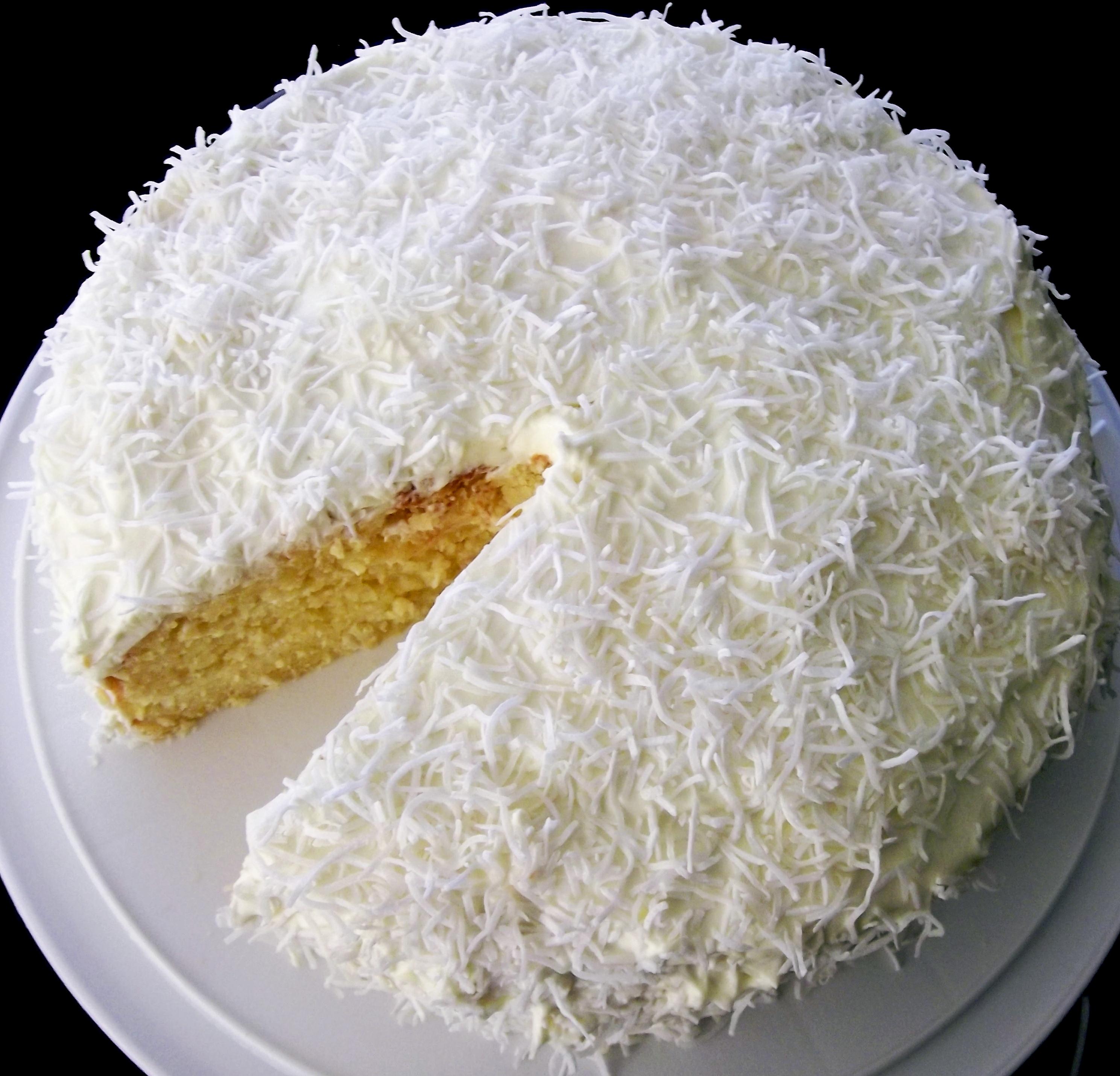 Coconut Rum Layer Cake