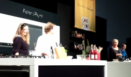 Me on stage with Maggie Beer
