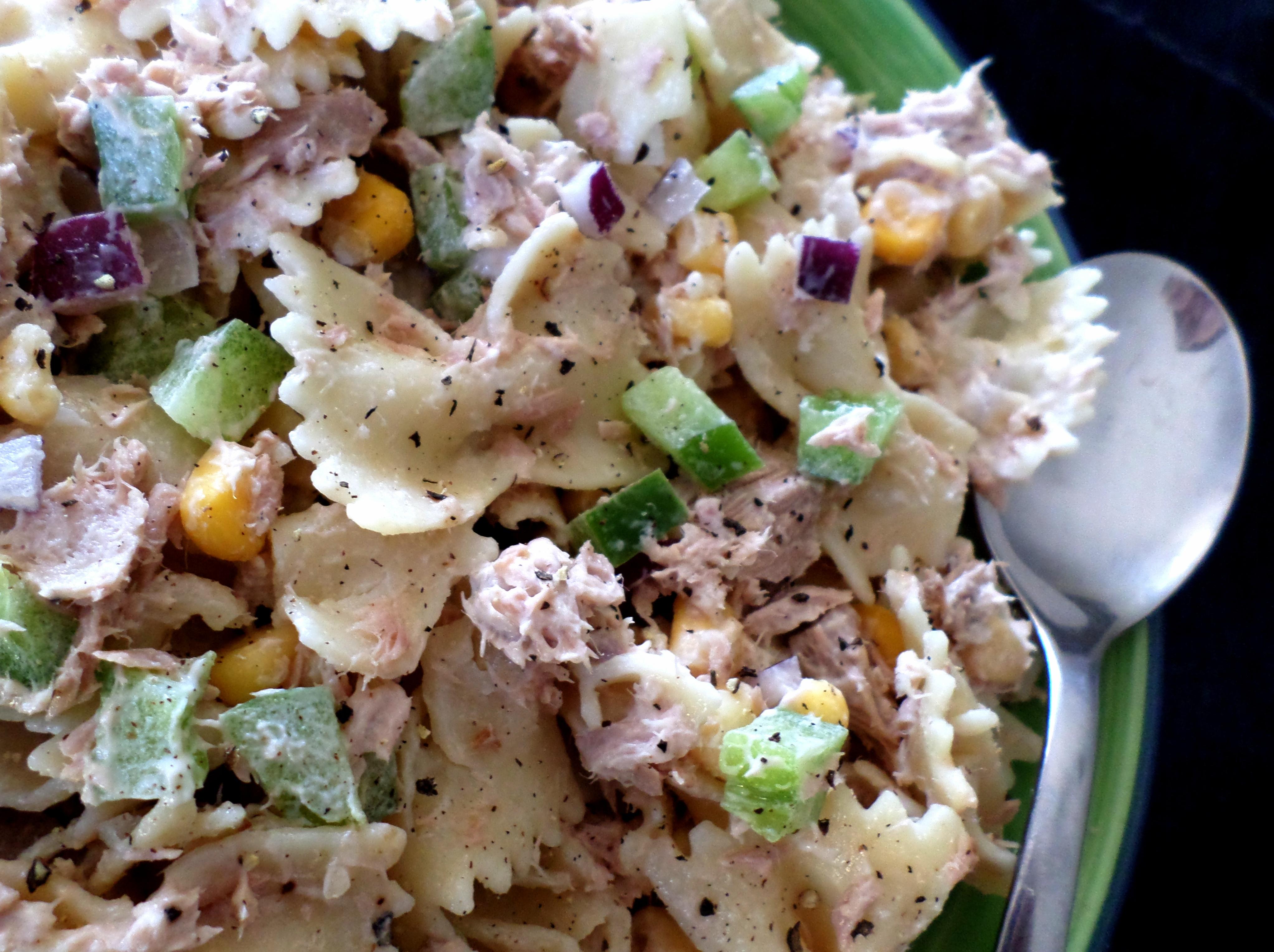 Tuna pasta salad with lemon and garlic aioli recipe adaptors for Best tuna fish salad
