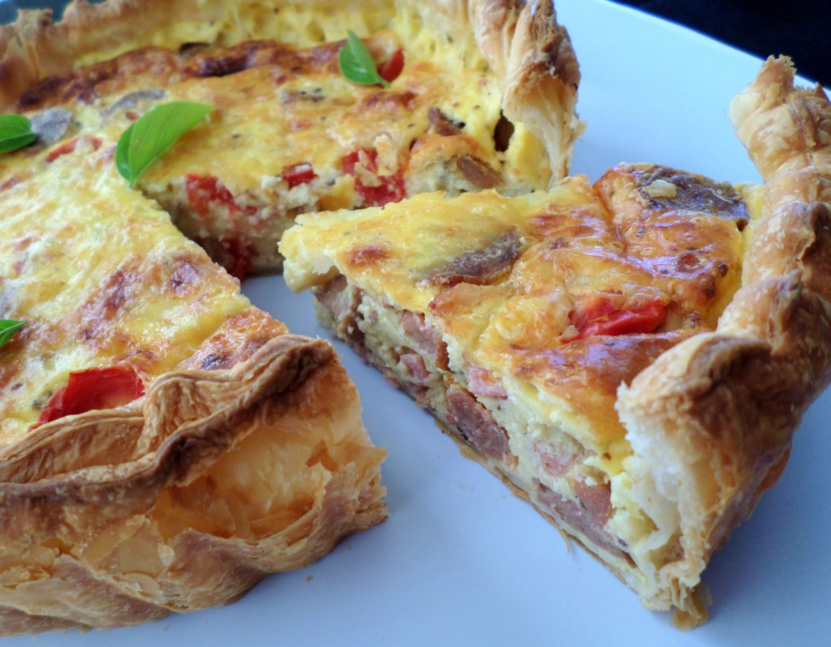 Ultimate Sausage and Bacon Quiche | Recipe Adaptors
