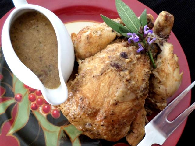 Slow Cooker 'Roast' Chicken with Stuffing Gravy | Recipe Adaptors