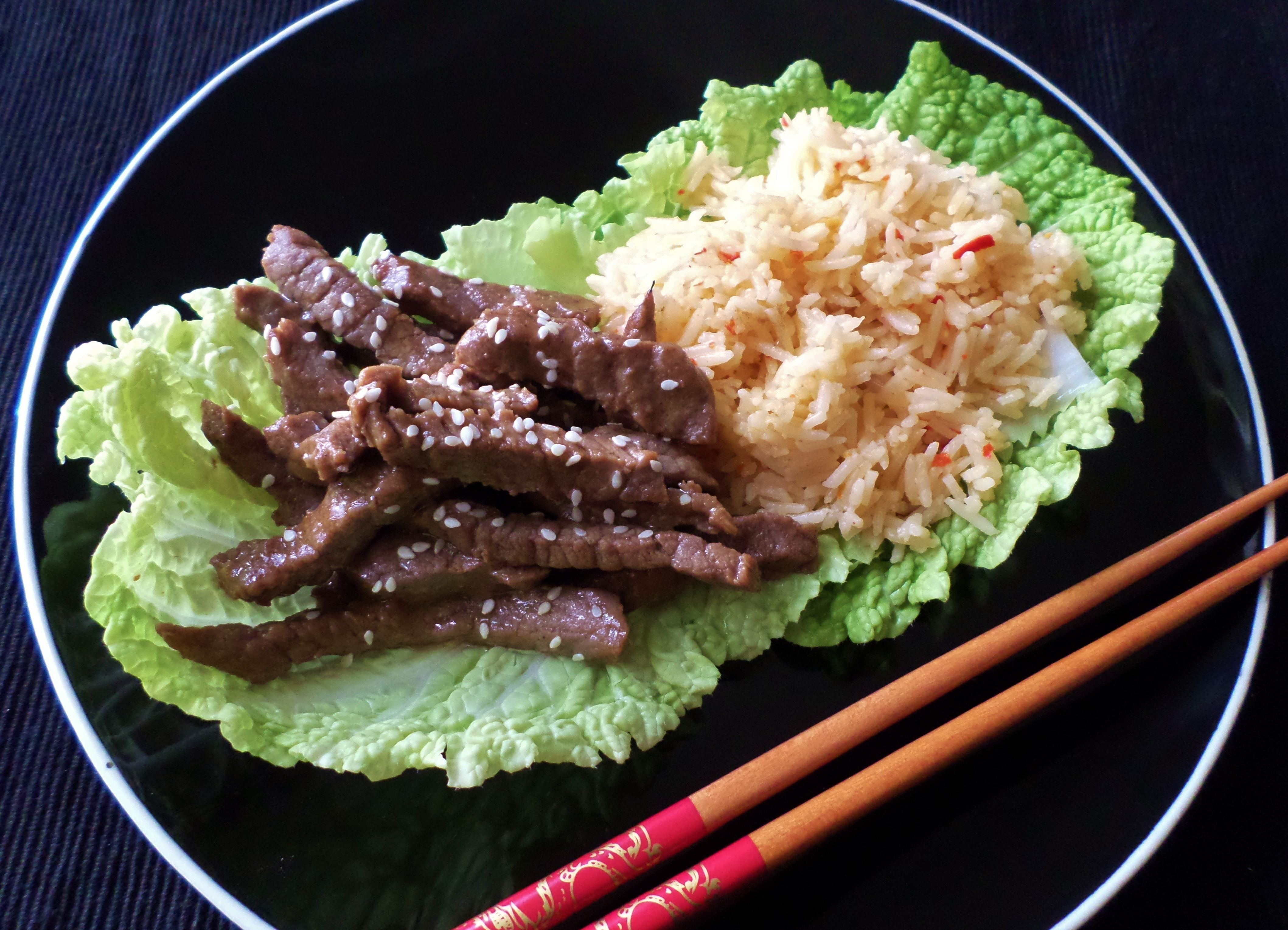 Hoisin beef and rice in cabbage bowls recipe adaptors for I want to cook something different for dinner