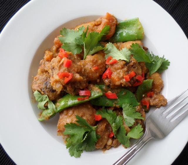 Slow Cooker Meatball Massaman Curry